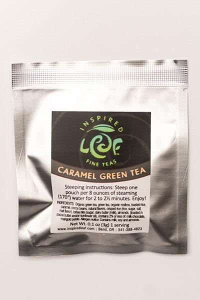 caramel green tea single packet