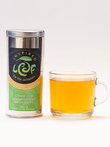 jasmine green tea with mug