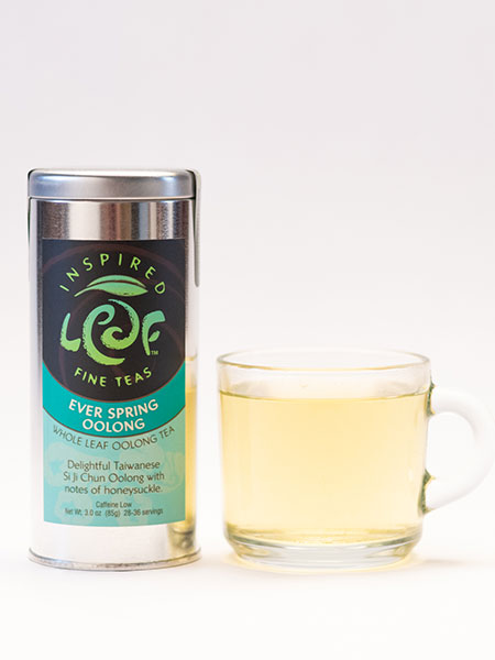 ever spring oolong tea with mug