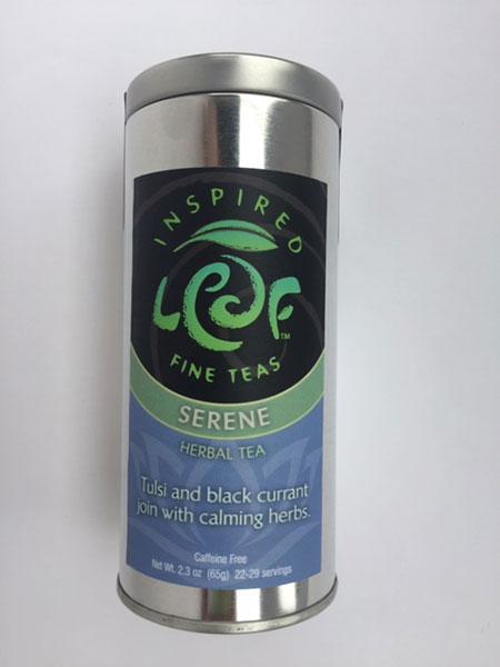 serene herbal tea loose tin