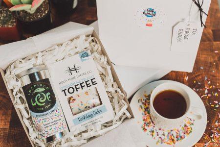 birthday cake tea and toffee gift box