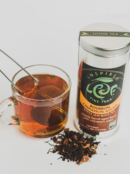 bourbon cinnamon tea with cup